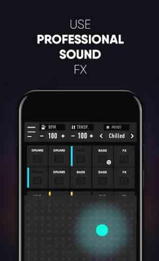 MixPads 2-Drum Pad DJ Music Mixer 4