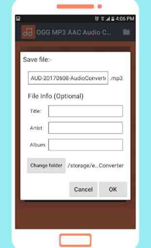 OGG MP3 AAC Audio Converter 4