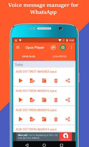 Opus Player: Manage your audio & voice messages 1