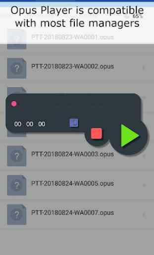 Opus Player - Whatsapp Audio Procurar e Organizar 3