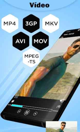 Reprodutor de Video MP4- Reprodutor de Música MP3 3