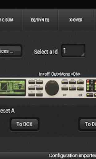 DCX.Client (DCX2496 remote control app) 2
