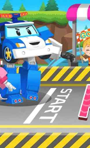 Robocar Poli Racing Popular Game - Alphabet 3