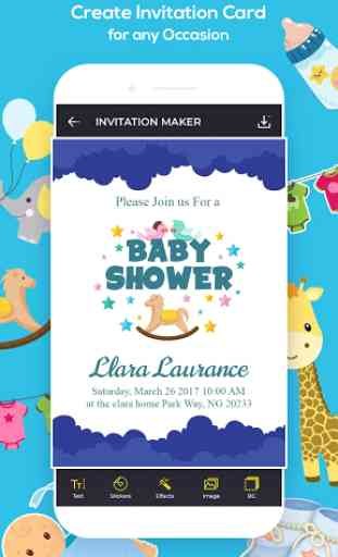 Invitation Maker, Greeting Card Maker image 3
