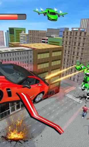 Real Flying Car Transformation Robot Simulator 2
