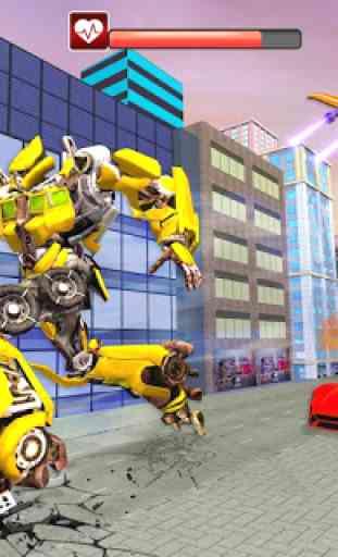 Real Flying Car Transformation Robot Simulator 3