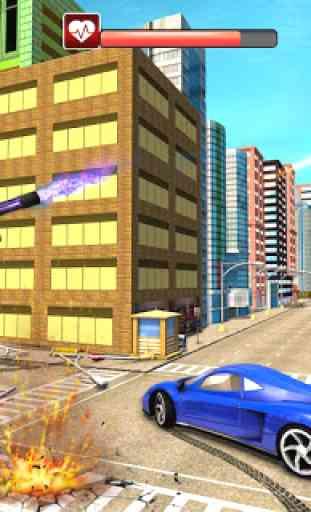 Real Flying Car Transformation Robot Simulator 4