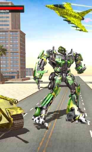 US Army Jet Robot Transforming Wars 4
