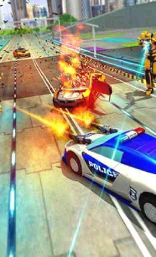 Vingança do carro dos robôs da polícia dos EUA 2