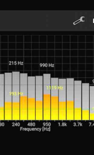 Analisador de espectro de som PRO 2