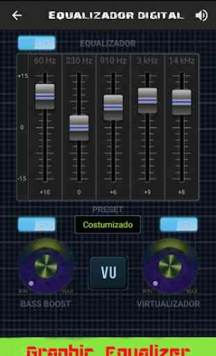Equalizador Gráfico Digital Alta qualidade de Som 3