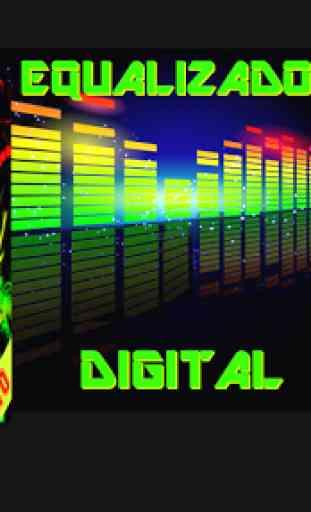Equalizador Gráfico Digital Alta qualidade de Som 4