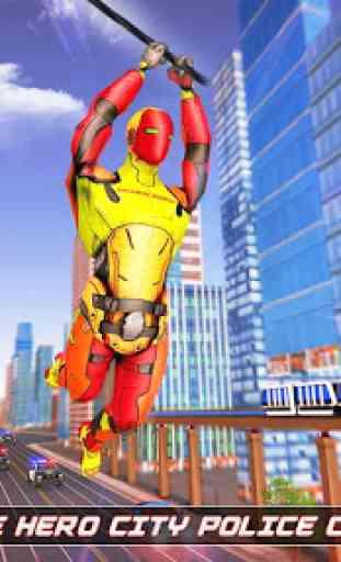 herói corda robô voador - cidade vegas crime 1