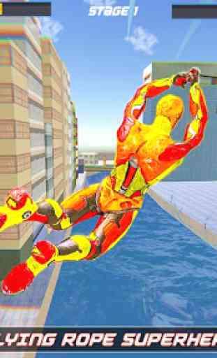 herói corda robô voador - cidade vegas crime 4