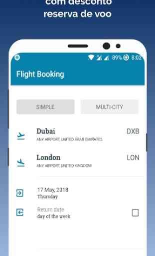 App de reserva de bilhetes de voo barato 1