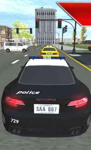 Carro de polícia real dirigindo v2 1