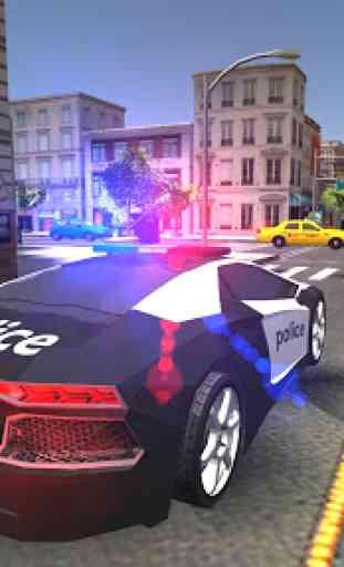 Carro de polícia real dirigindo v2 4