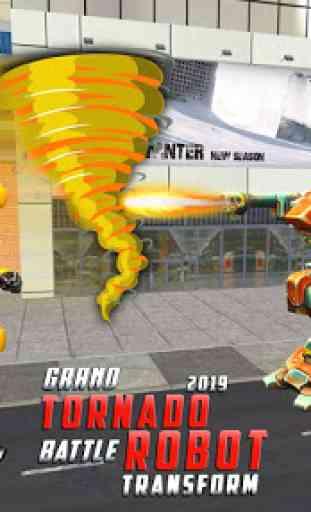 US Robot Car Transform 3D : Grand Tornado Robot 2