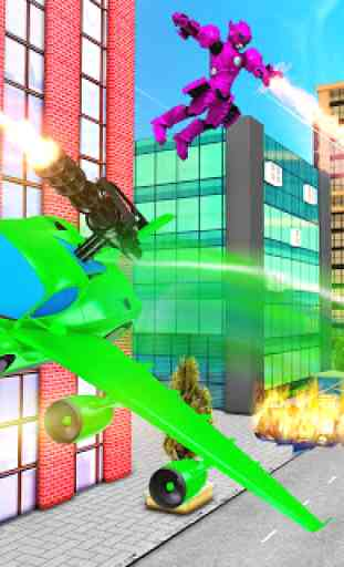 Carro de vôo transformação robô guerras carro s 1