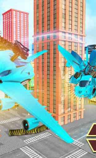 Carro de vôo transformação robô guerras carro s 3