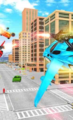 Carro de vôo transformação robô guerras carro s 4