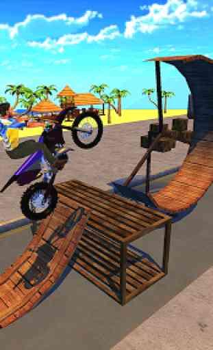 Corrida de motos e equitação de rampa 1
