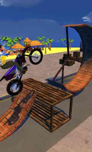 Corrida de motos e equitação de rampa 2