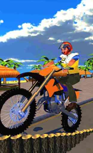 Corrida de motos e equitação de rampa 4