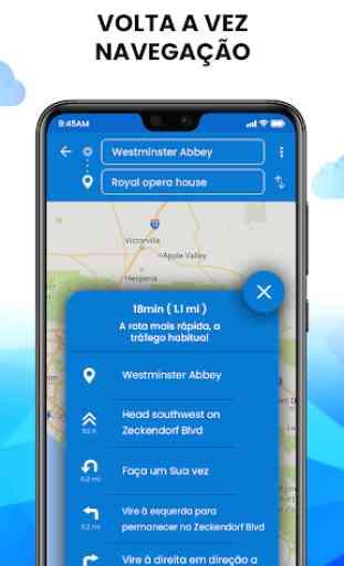 GPS em tempo real, mapas, rotas, direção e tráfego 3