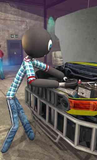 Oficina de reparação de carros Stickman 4