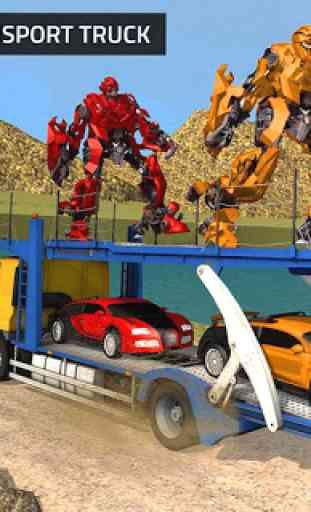 US Robot Transform Car: Jogos de Transporte Robot 4