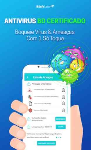 Antivirus Limpador BSafe VPN Bloqueio Applock 2