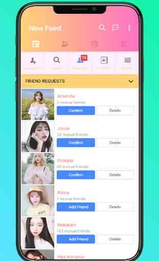 Mini for Social Network - Themes, emojis, funny 2