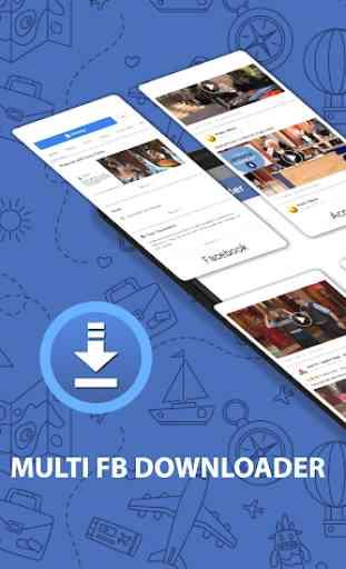 Multi FB: Conta múltipla e Video Downloader 1
