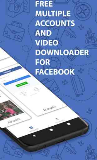 Multi FB: Conta múltipla e Video Downloader 2