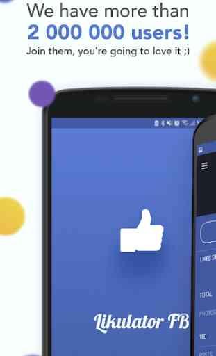 Likulator – likes counter for Facebook 1