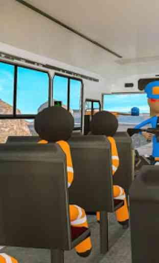 Transporte Stickman Prisioneiro Ônibus Dirigindo 2