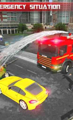 911 caminhão de bombeiro real robot transformation 4