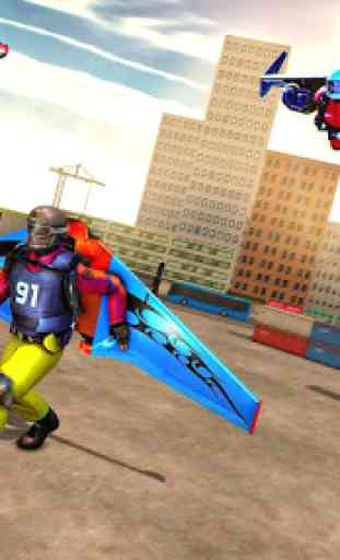 Voando Jetpack Hero Crime 3D Fighter Simulator 3