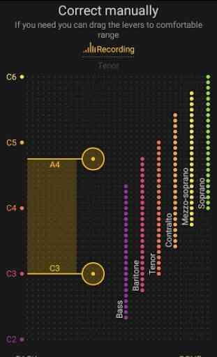 Alcance Vocal detector de voz soprano ou barítono 4