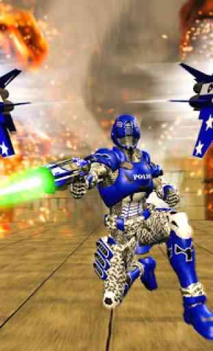 US Police Robot War Multi Robot Transformation 4