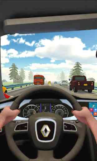 Tráfego VR Racing Racing In Driving Car: Virtual 4