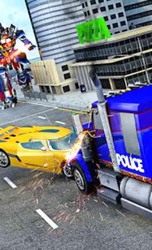 Police Robot Truck 3