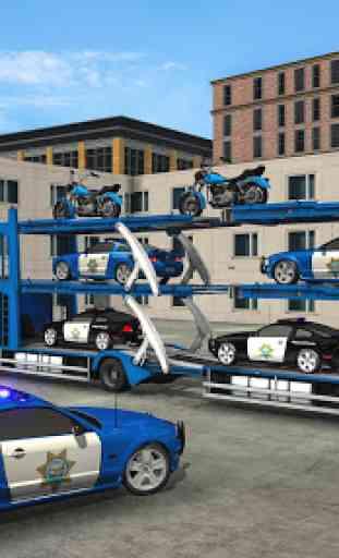 US Police Robot Car Transporter Police Plane Game 1