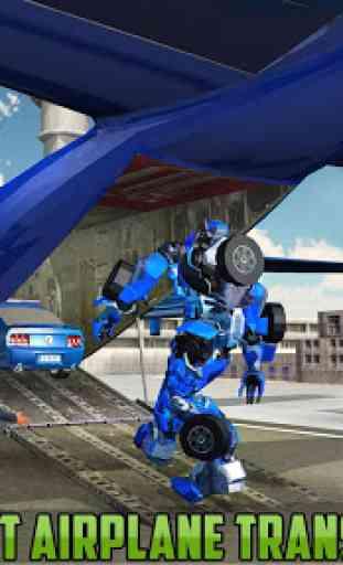 US Police Robot Car Transporter Police Plane Game 2