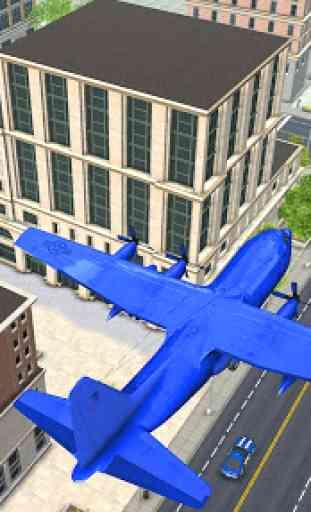 US Police Robot Car Transporter Police Plane Game 3