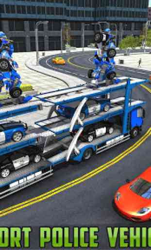 US Police Robot Car Transporter Police Plane Game 4