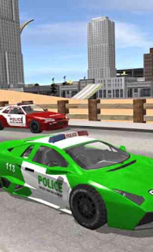 Polícia da cidade dirigindo o simulador de carro 1