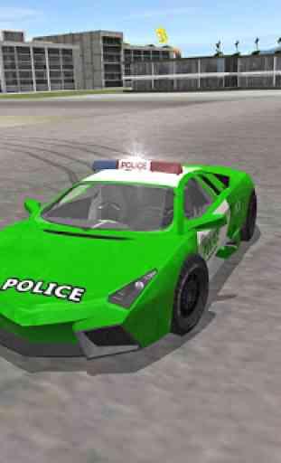 Polícia da cidade dirigindo o simulador de carro 2