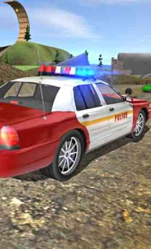 Polícia da cidade dirigindo o simulador de carro 3